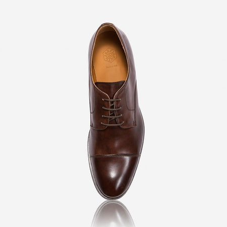 Milan Genuine Leather Shoes, Coffee