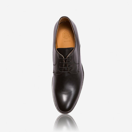 Milan Genuine Leather Shoes, Black