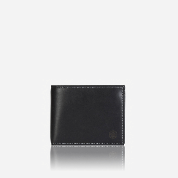 Large Billfold Wallet With Coin, Black - Jekyll and Hide SA