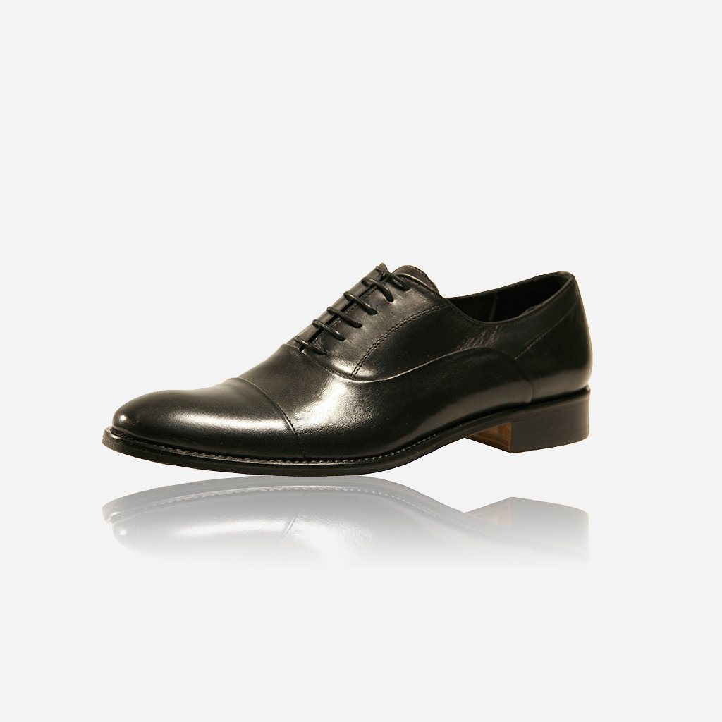 Genuine Oxford Leather Shoes, Black - Jekyll and Hide SA