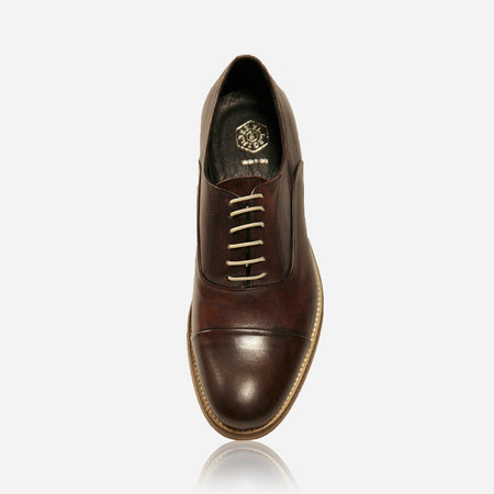 Genuine Oxford Leather Shoes, Brown