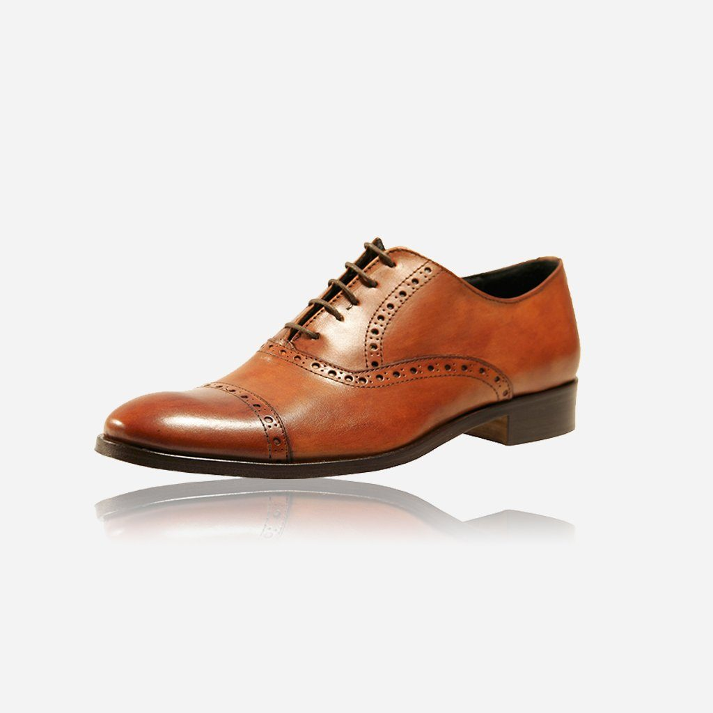 Brogue Shoes, Tan - Jekyll and Hide SA