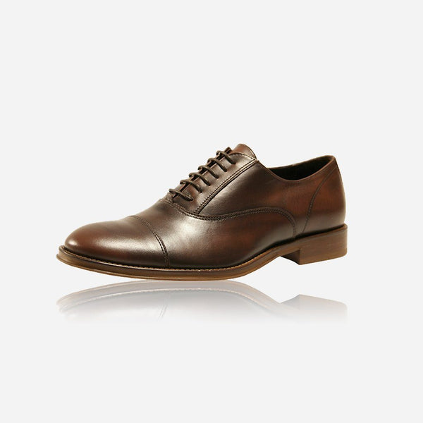 Leather Brogues - Men's Matte Leather Lace-Up