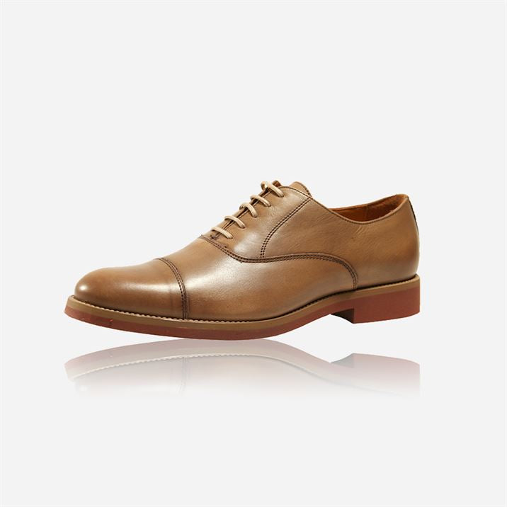 Leather Toe Cap Shoes, Putty - Jekyll and Hide SA