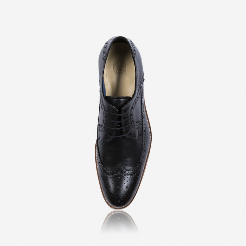 Antic Brogue Shoes, Black - Jekyll and Hide SA