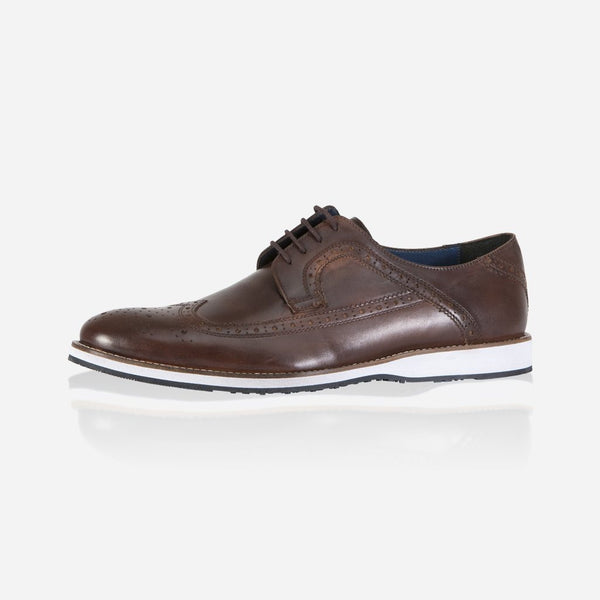 Leather Brogues - Artist Brogue Shoes, Brown