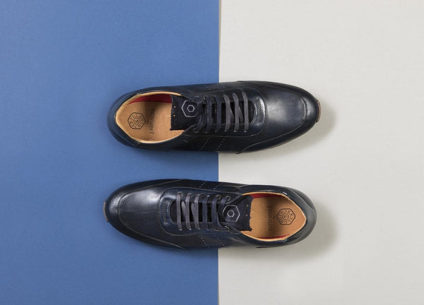 Lisbon Leather Denim Sneakers