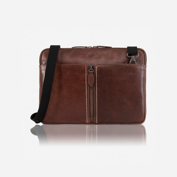 Laptop Folder with Discrete Detachable Sling (Coffee)
