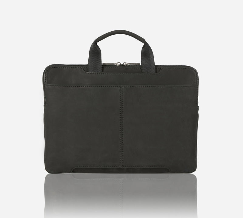 Extra Slim Laptop Brief, Black - Jekyll and Hide SA