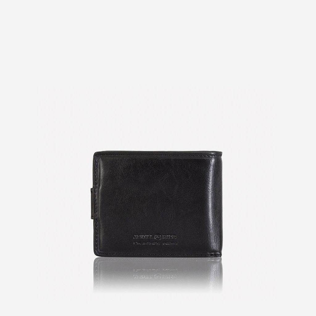 Billfold Wallet With Coin And ID Window, Black - Jekyll and Hide SA