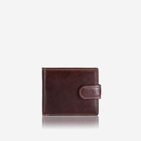 Billfold Wallet With Coin And ID Window, Coffee - Jekyll and Hide SA