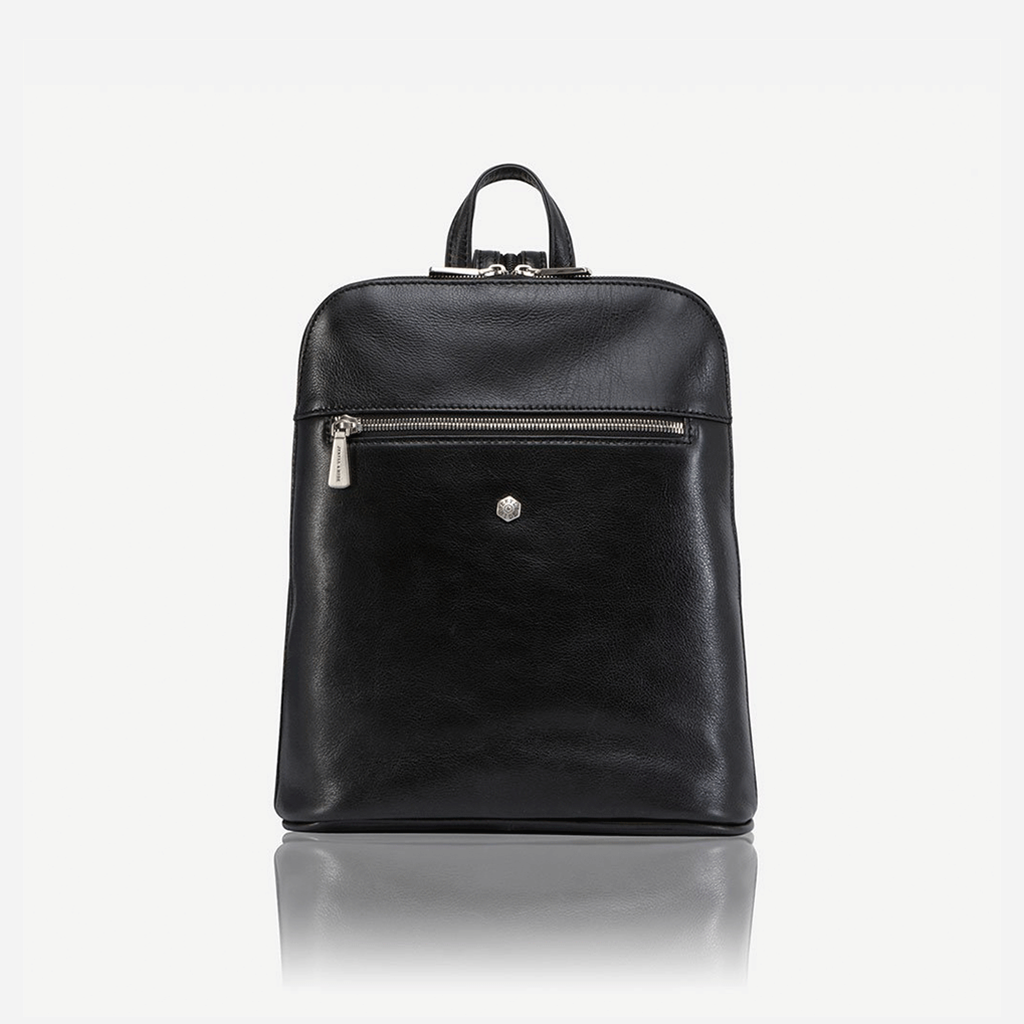 Ladies Modern Backpack, Black - Jekyll and Hide SA