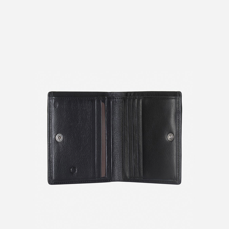 Slim Bifold Card Holder With Coin, Soft Black - Jekyll and Hide SA