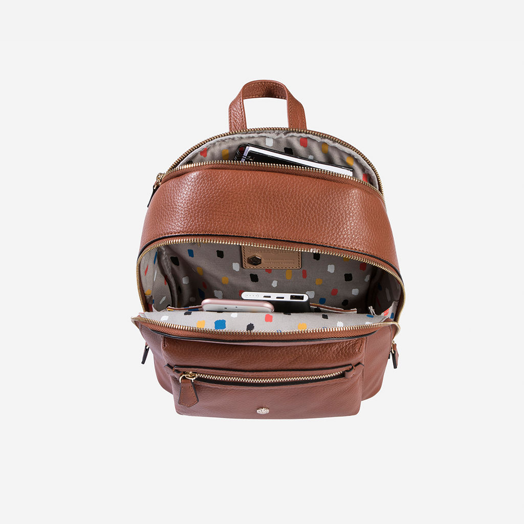 Classic Capri Leather Backpack, Nut - Jekyll and Hide SA