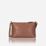 Ladies Crossbody Bag, Nut - Jekyll and Hide SA