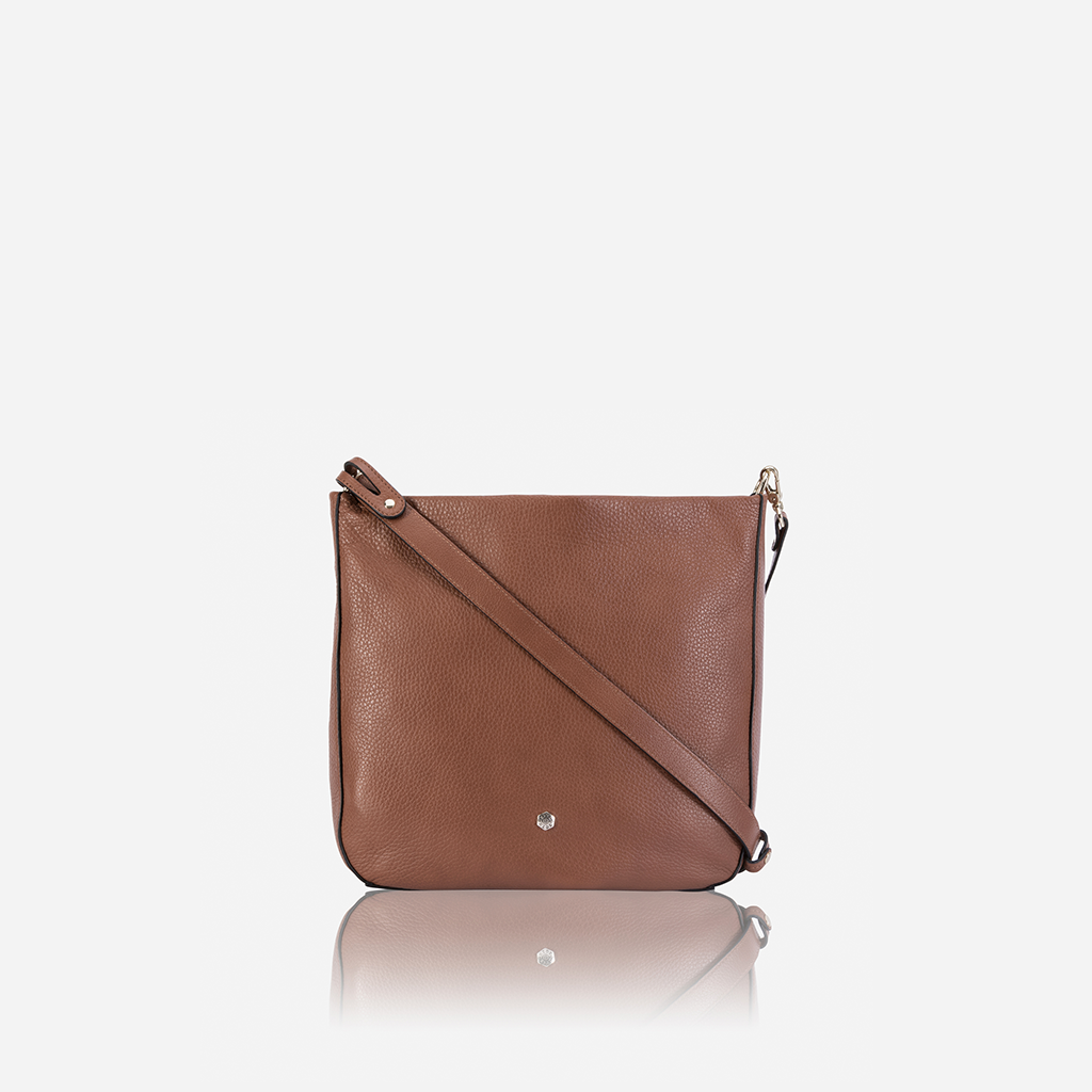 Leather Capri Ladies Crossbody, Nut - Jekyll and Hide SA
