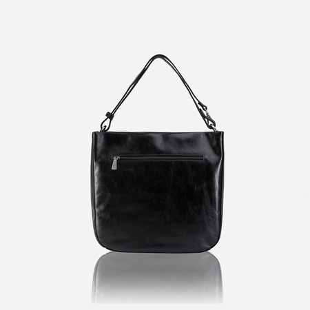 Chic Leather Crossbody Bag, Black - Jekyll and Hide SA
