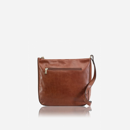 Chic Leather Crossbody Bag, Tan - Jekyll and Hide SA