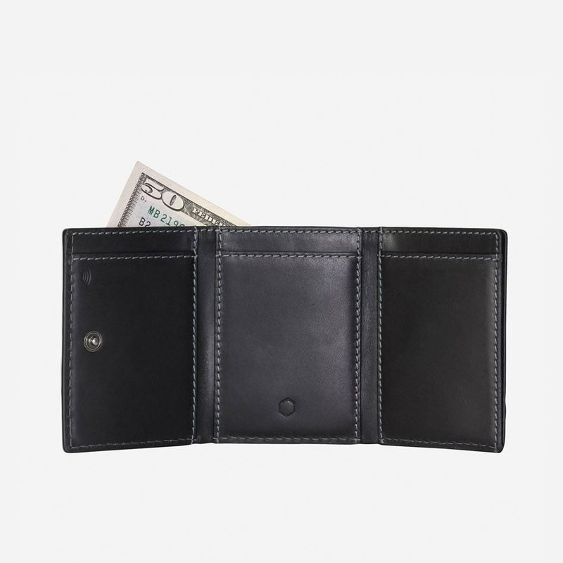 Tri Fold Card Holder, Black - Jekyll and Hide SA