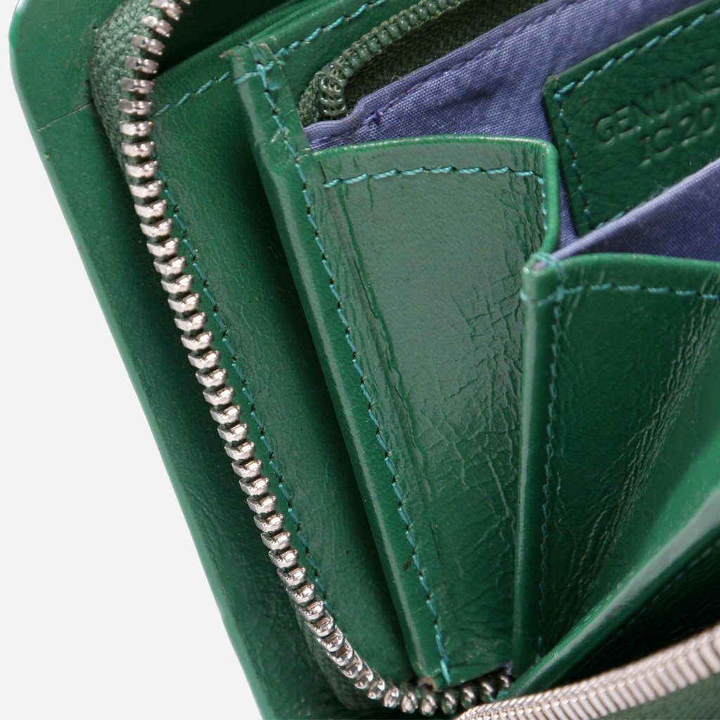 Small & Compact Ladies Purse, Green - Jekyll and Hide SA
