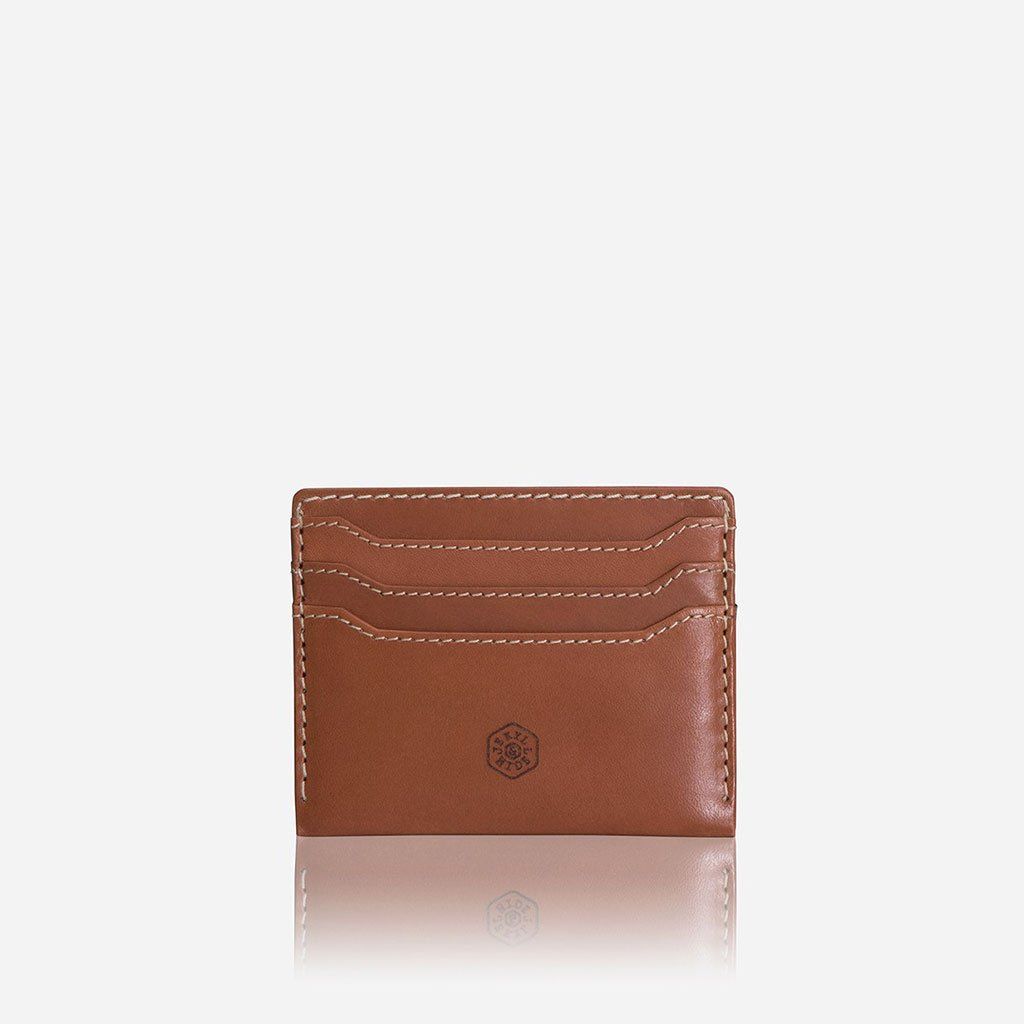 Leather Card Holder, Tan - Jekyll and Hide SA