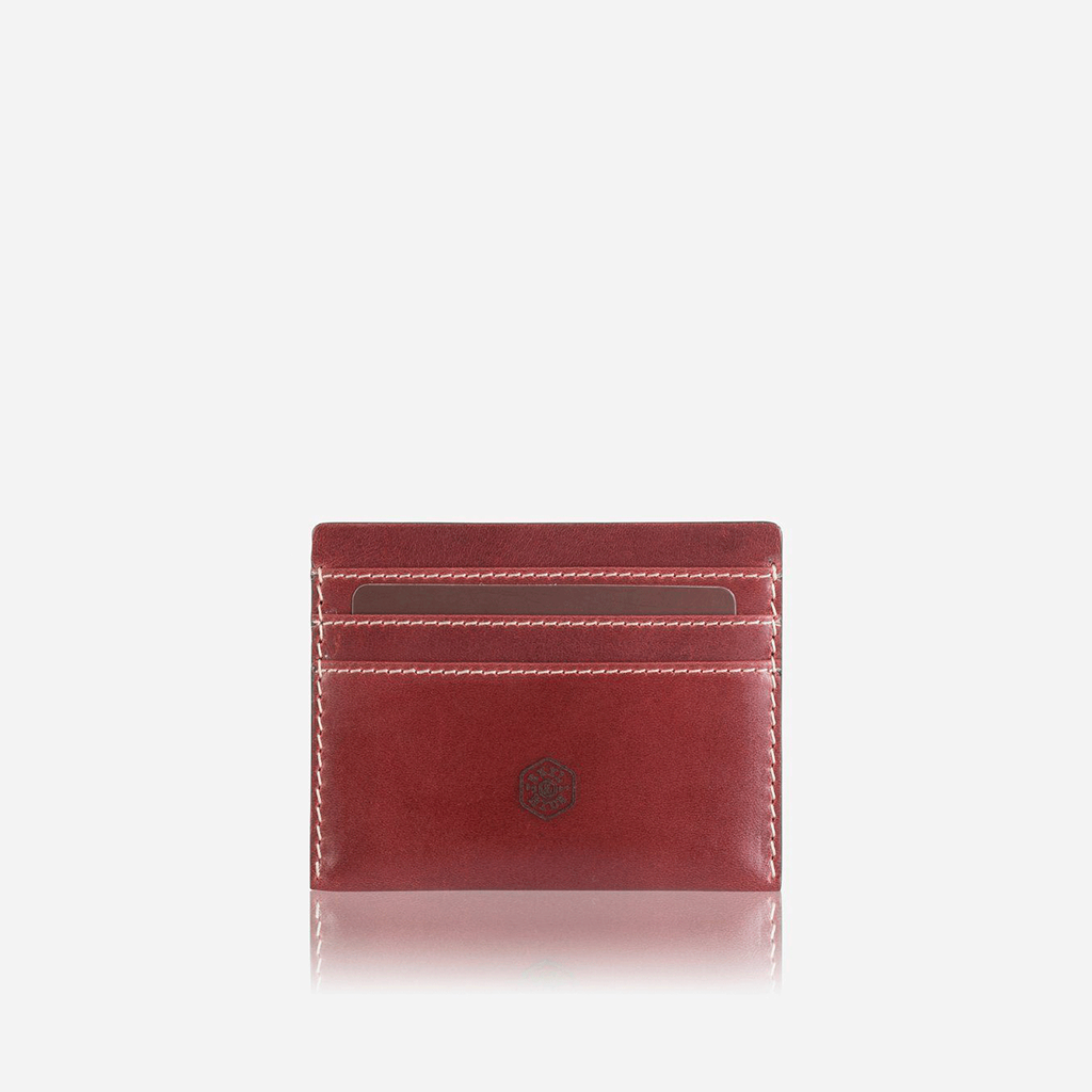 Slim Card Holder, Red - Jekyll and Hide SA