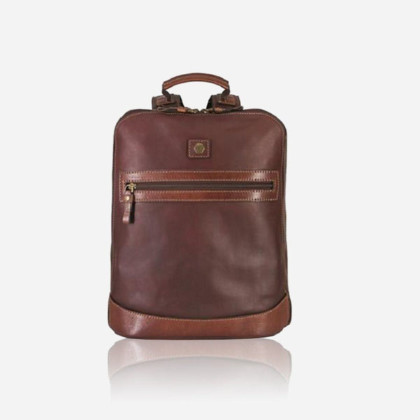 "13"" Leather Travel Backpack (RFID Protected)"