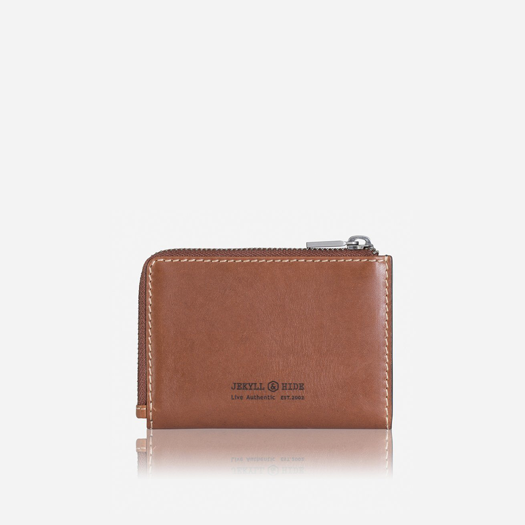 Compact Zipped Wallet, Clay - Jekyll and Hide SA