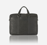 Leather Briefcase, Black - Jekyll and Hide SA