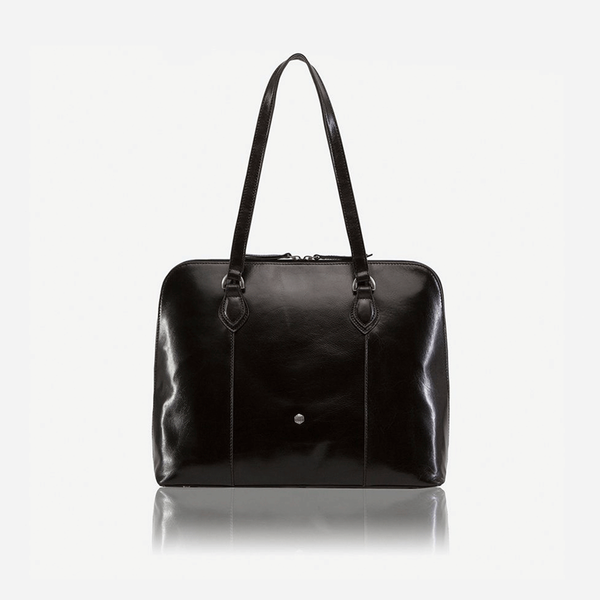 Medium Leather Laptop Handbag, Black - Jekyll and Hide SA