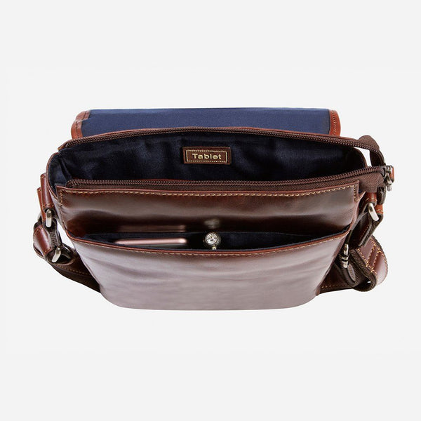 All Ladies Products - Tablet Crossbody Bag, Tobacco