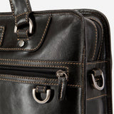 Medium Laptop Briefcase, Black - Jekyll and Hide SA