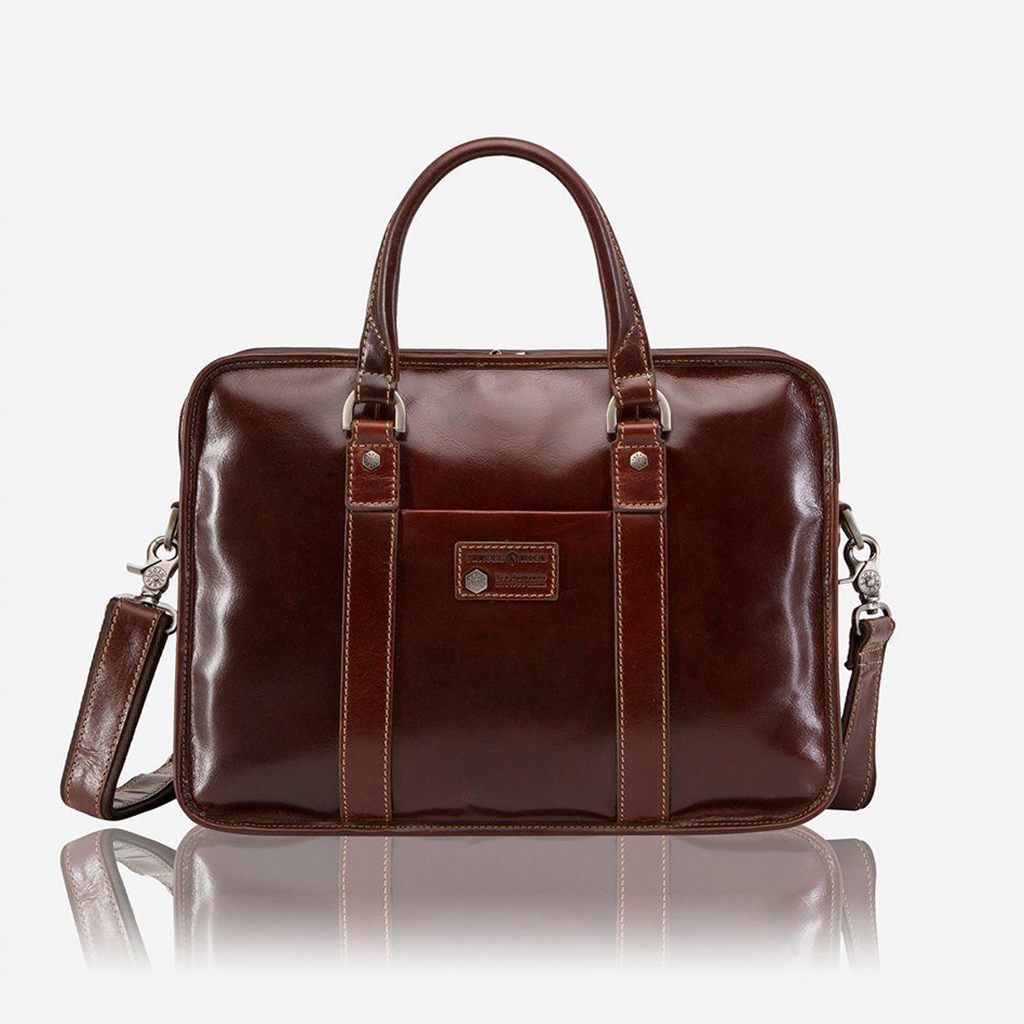Extra Large Business Briefcase, Tobacco - Jekyll and Hide SA