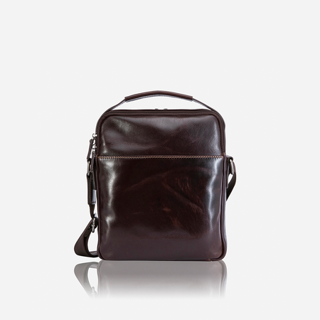 Zip Crossbody Bag, Tobacco - Jekyll and Hide SA