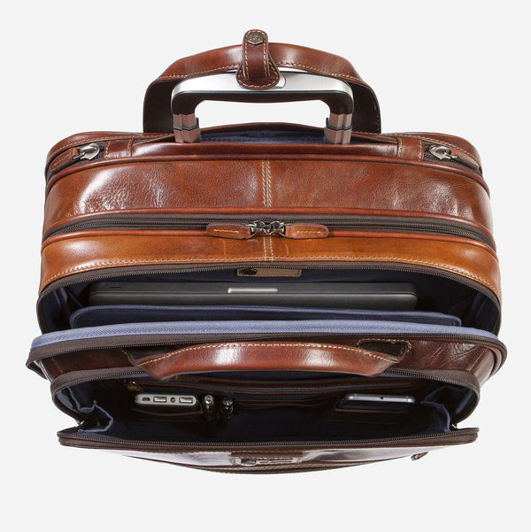 Mobile Cabin Office Bag 44cm, Tobacco - Jekyll and Hide SA