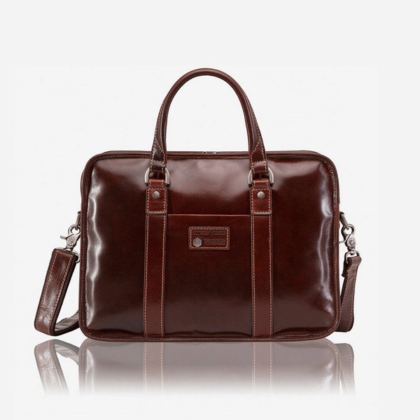 Large Double Compartment Briefcase - Jekyll and Hide SA