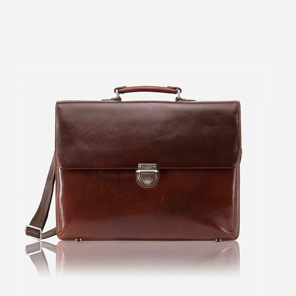 Extra Large Laptop Briefcase, Tobacco - Jekyll and Hide SA