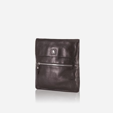 iPad Leather Messenger, Black - Jekyll and Hide SA