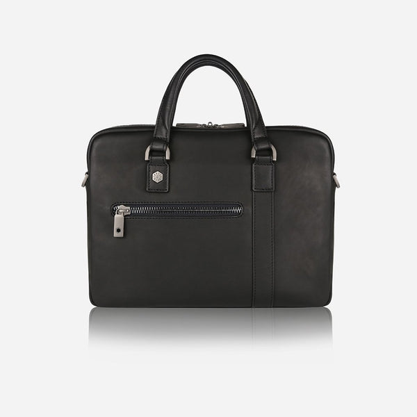 "13"" Leather Briefcase (Single Gusset, Argentinean Hide)"