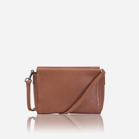 Petite & Versatile Crossbody Bag, Tan - Jekyll and Hide SA