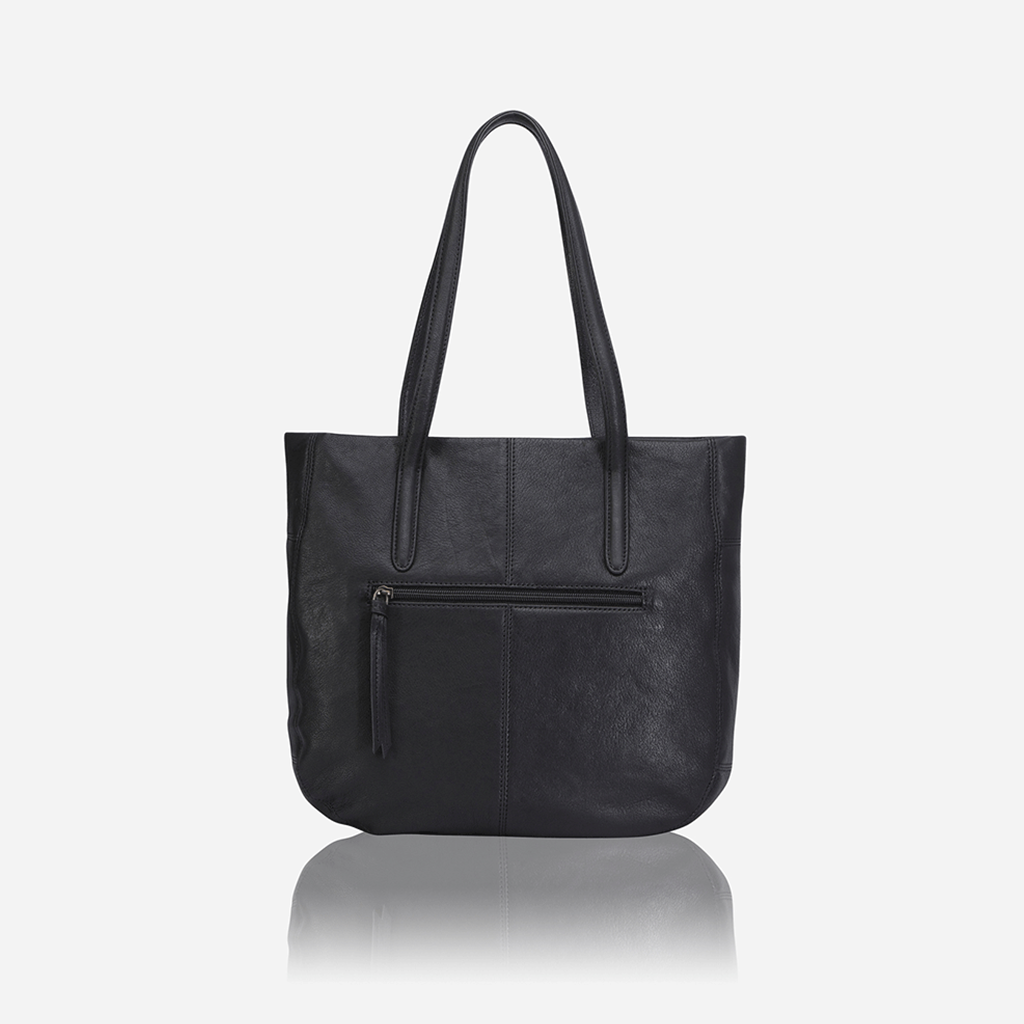 Large Minimalist Crossbody Hobo, Black - Jekyll and Hide SA