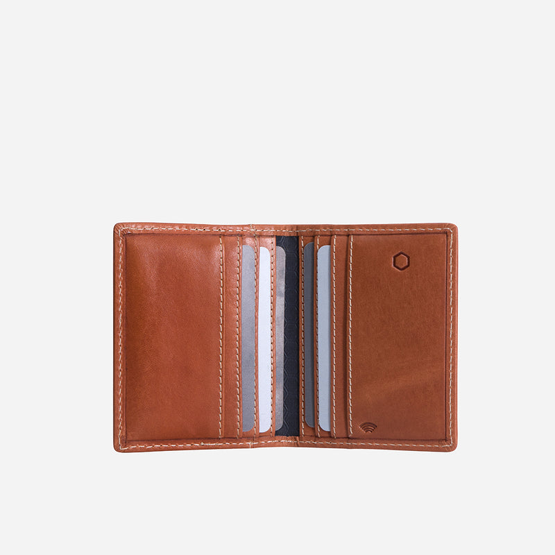 Slim Leather Billfold Card Holder, Tan - Jekyll and Hide SA