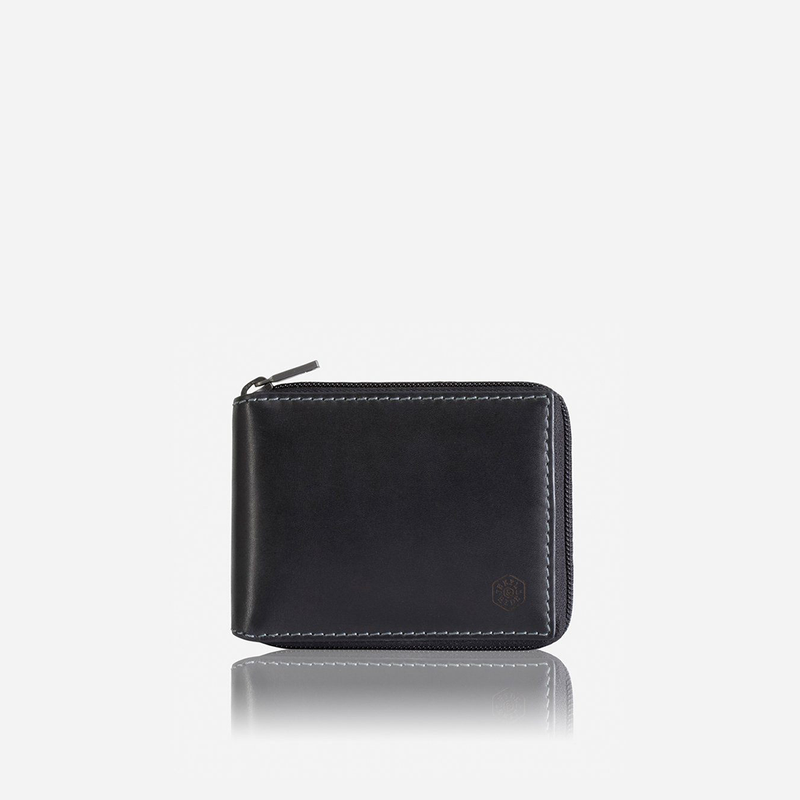 Zip Around Coin Wallet, Black - Jekyll and Hide SA