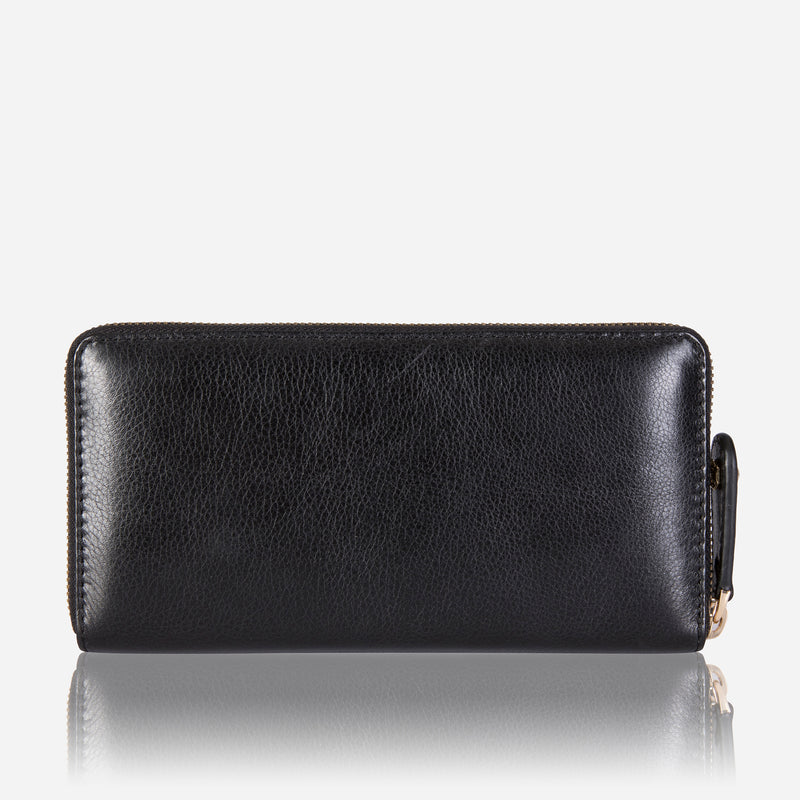 Large Classic Zip Around Purse, Black - Jekyll and Hide SA