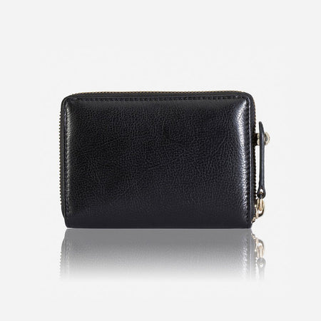 Small Ladies Leather Purse, Black - Jekyll and Hide SA