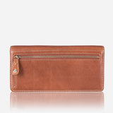 Large Ladies Multi-Compartment Leather Purse, Tan - Jekyll and Hide SA