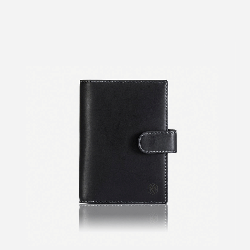 Leather RFID Passport Cover, Black - Jekyll and Hide SA