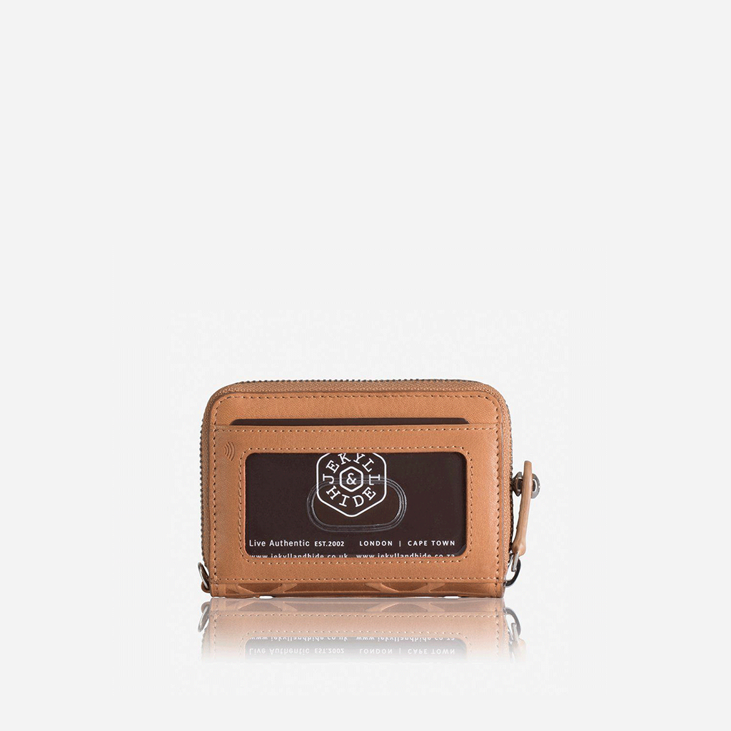 Multi Card Zip Around Compact Purse, Tan - Jekyll and Hide SA
