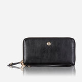 Double Zip Wristlet Purse, Black - Jekyll and Hide SA
