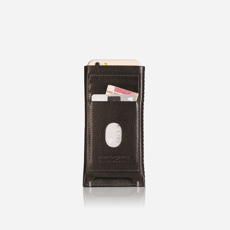 iPhone 8 Leather Pouch, Black - Jekyll and Hide SA